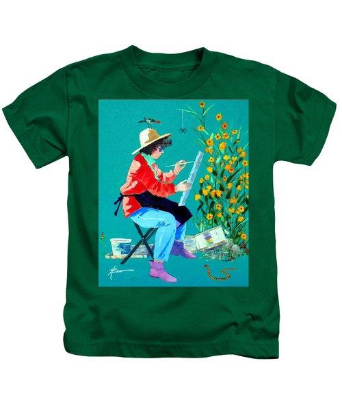 Plein Air Painter  Kids T-Shirt