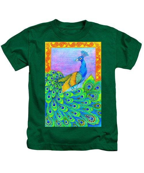 Pretty Peacock Kids T-Shirt
