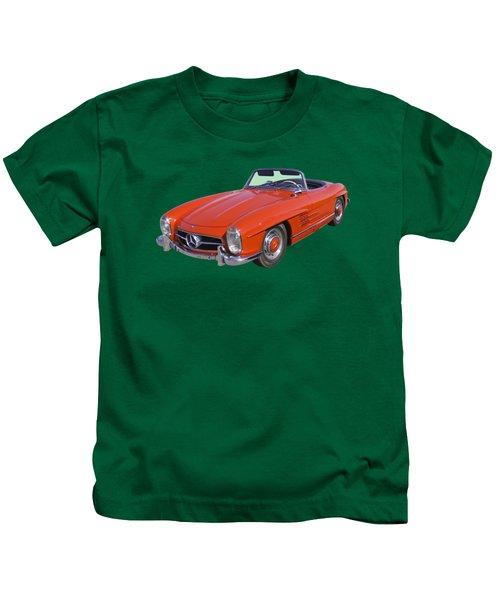 Red Mercedes Benz 300 Sl Convertible Kids T-Shirt