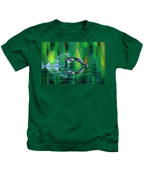 Rocket Feathers Kids T-Shirt