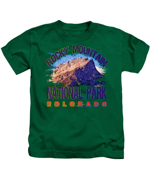 Rocky Mountain National Park Kids T-Shirt