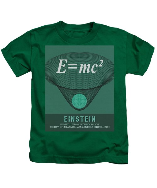 Science Posters - Albert Einstein - Theoretical Physicist Kids T-Shirt