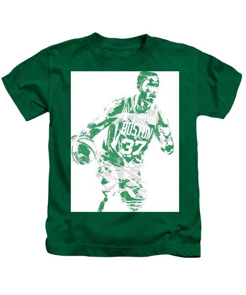 Semi Ojeleye Boston Celtics Pixel Art 2 Kids T-Shirt