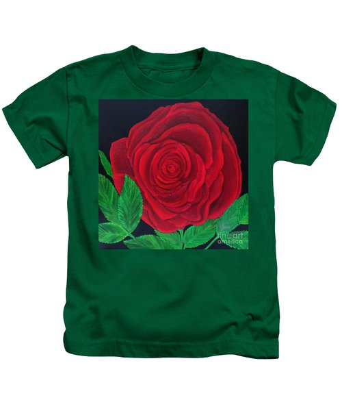Solitary Red Rose Kids T-Shirt