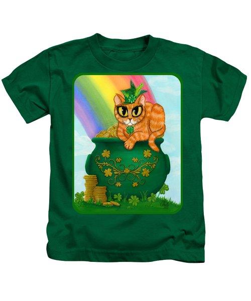St. Paddy's Day Cat - Orange Tabby Kids T-Shirt