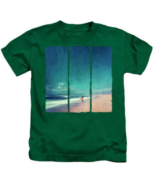 Summer Days - Abstract Seascape With Surfer Kids T-Shirt
