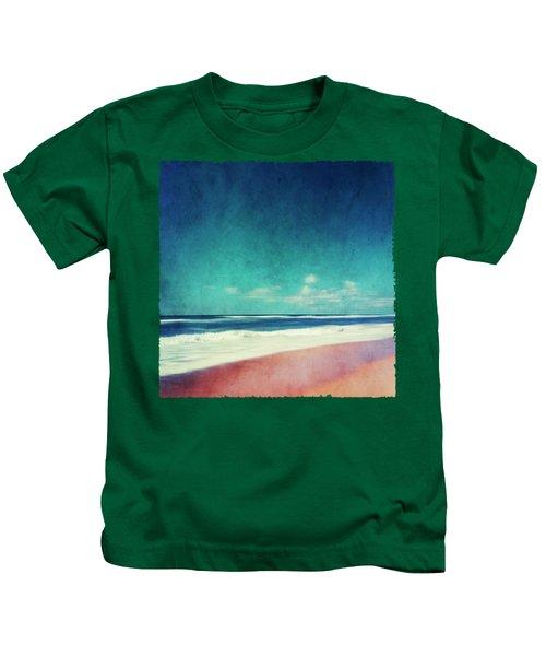 Summer Days IIi - Abstract Beach Scene Kids T-Shirt