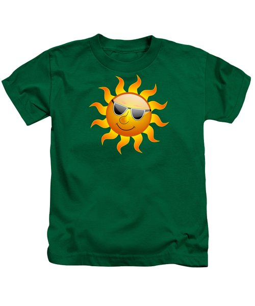 Sun With Sunglasses Kids T-Shirt