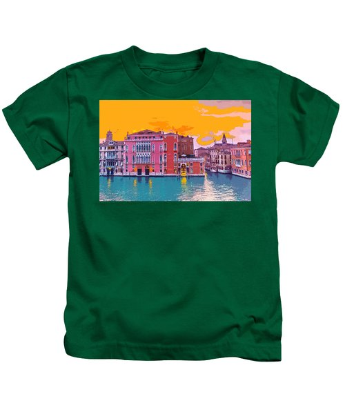 Sunset On The Grand Canal Venice Kids T-Shirt