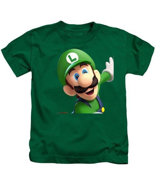 Super Luigi Art Kids T-Shirt