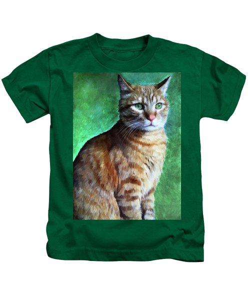 Tabby Cat Kids T-Shirt