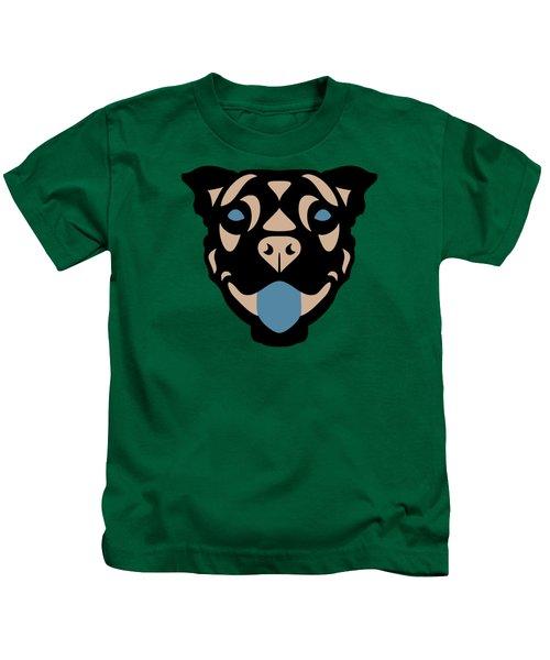 Terrier Terry - Dog Design - Greenery, Hazelnut, Niagara Blue Kids T-Shirt