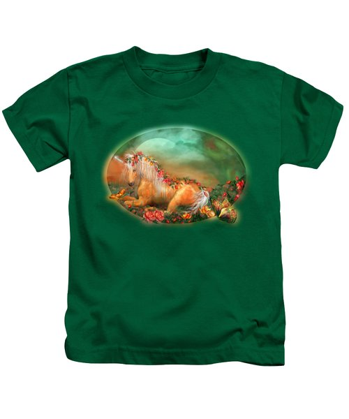Unicorn Of The Roses Kids T-Shirt