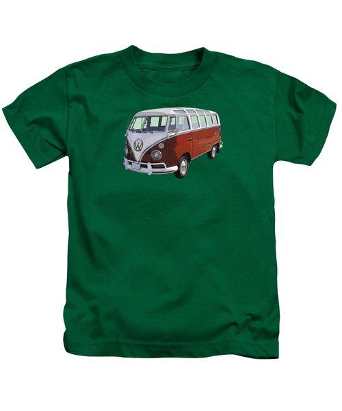 Volkswagen Bus 21 Window Bus  Kids T-Shirt