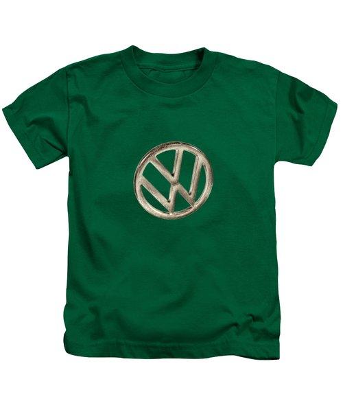 Vw Car Emblem Kids T-Shirt by YoPedro