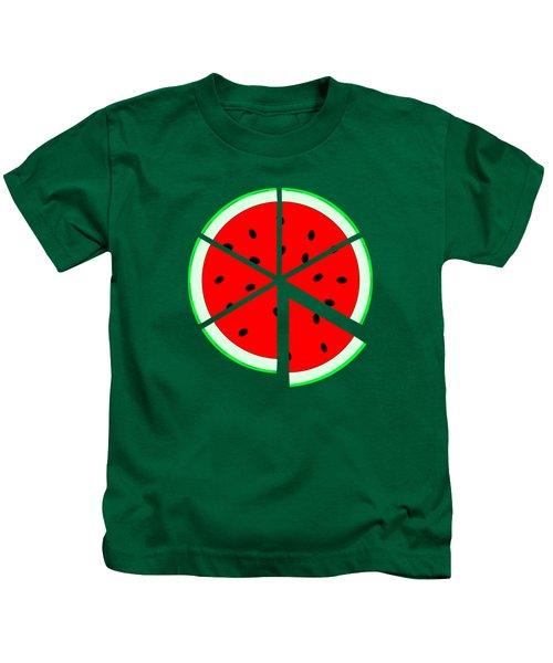 Watermelon Wedge Kids T-Shirt