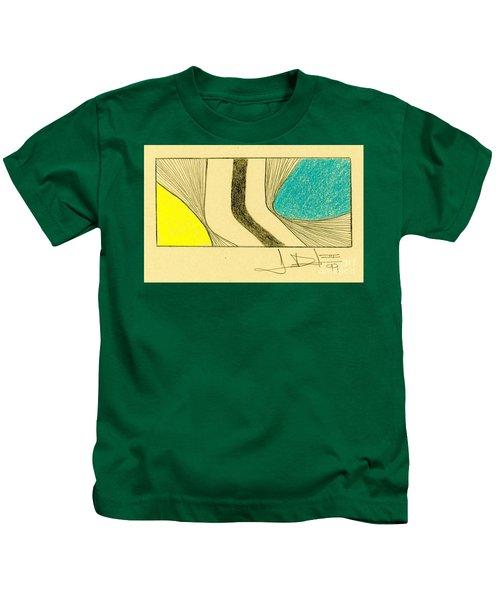 Waves Yellow Blue Kids T-Shirt