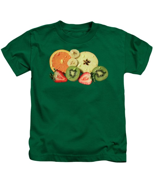 Wet Fruit Kids T-Shirt by Shane Bechler