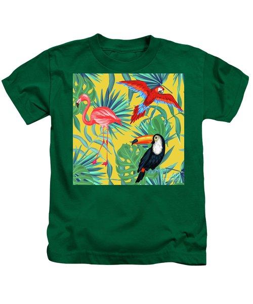 Yellow Tropic  Kids T-Shirt
