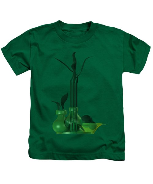 Green Still Life With Cool Elements Kids T-Shirt
