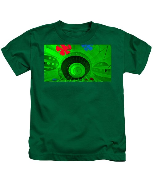 Inside The Green Balloon Kids T-Shirt
