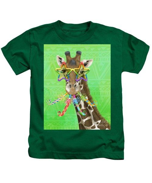 Party Safari Giraffe Kids T-Shirt