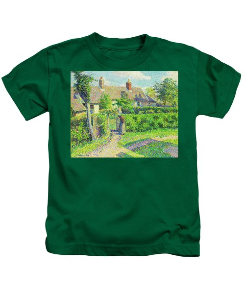 Peasants' Houses, Eragny - Digital Remastered Edition Kids T-Shirt