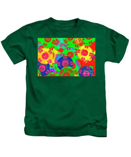 Poker Stacks Kids T-Shirt