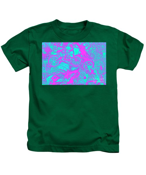 Riding Retro Routes Kids T-Shirt