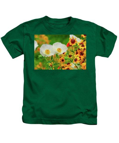 Texas Wildflowers Kids T-Shirt