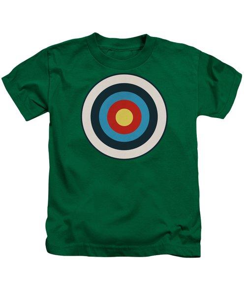 Vintage Target - Green Kids T-Shirt