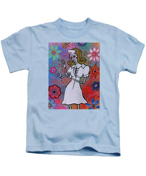 Dia De Los Muertos Nurse Kids T-Shirt