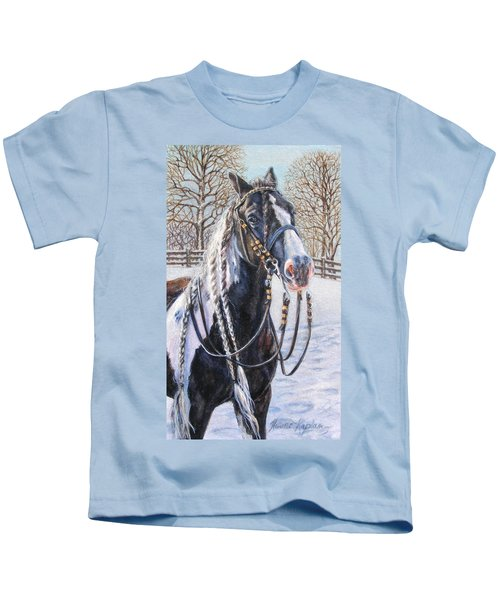 I'm Ready For The Ribbons Gypsy Vanner Horse Kids T-Shirt