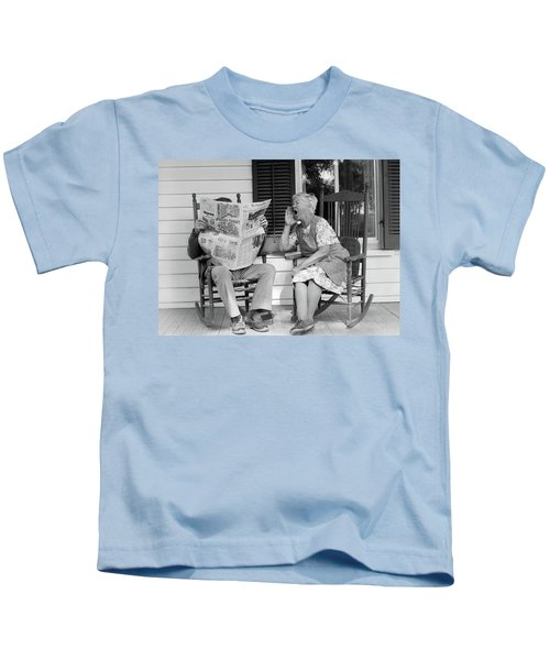 1970s Elderly Couple In Rocking Chairs Kids T-Shirt