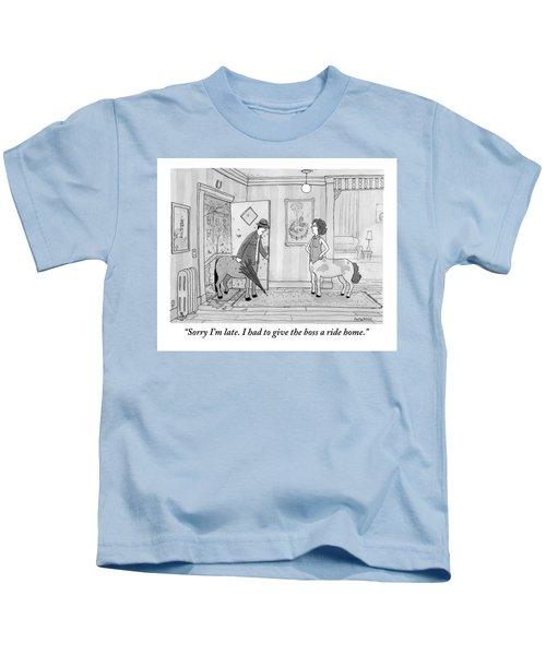 A Male Centaur Kids T-Shirt
