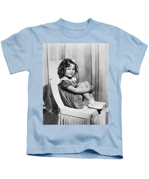 Actress Shirley Temple Kids T-Shirt by Underwood Archives
