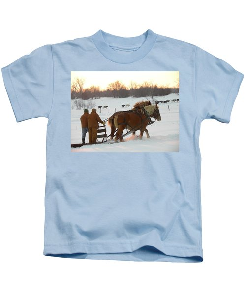 All In A Days Work Kids T-Shirt