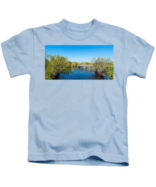 Anhinga Trail Boardwalk, Everglades Kids T-Shirt