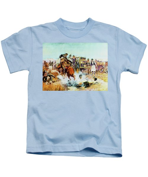 Bronc For Breakfast Kids T-Shirt