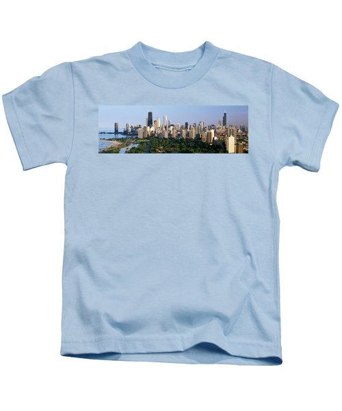 Buildings In A City, View Of Hancock Kids T-Shirt by Panoramic Images