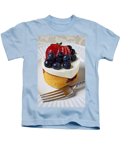 Cheese Cream Cake With Fruit Kids T-Shirt by Garry Gay