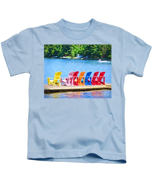 Colorful Chairs Kids T-Shirt