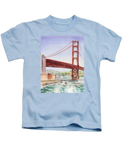 Golden Gate Bridge San Francisco Kids T-Shirt