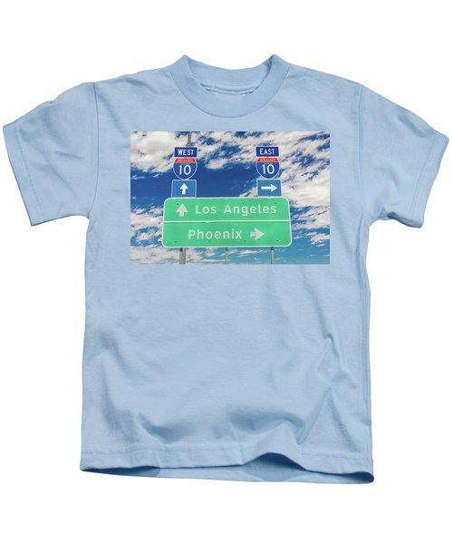 Interstate 10 Highway Signs Kids T-Shirt