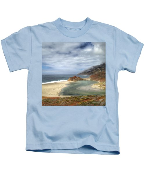 Little Sur River In Big Sur Kids T-Shirt