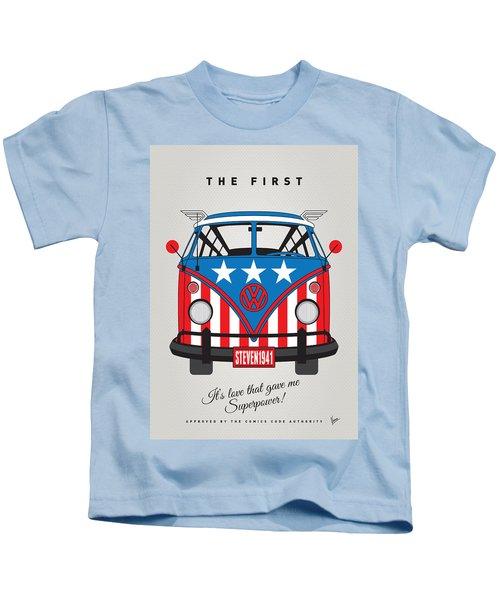 My Superhero-vw-t1-captain America Kids T-Shirt