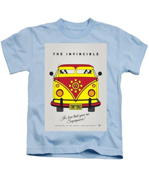 My Superhero-vw-t1-iron Man Kids T-Shirt