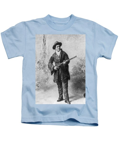 Portrait Of Calamity Jane Kids T-Shirt by Underwood Archives