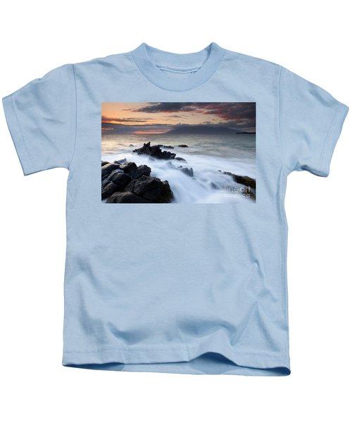 Red Sky Over Lanai Kids T-Shirt
