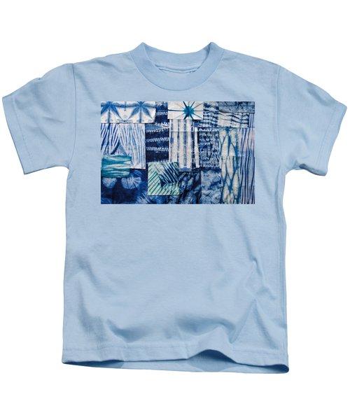 Shibori Patchwork Indigo Kids T-Shirt